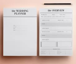 wedding planner organizer ultimate printable wedding planner organizer half size