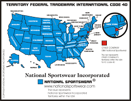 Louisiana On A Map by National Sportswear Trademark Owner National Sportswear Incorporated