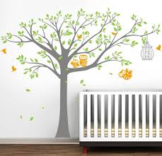 Nursery Owl Wall Decals Pop Decors Nursery Tree With Owls Wall Decal Reviews Wayfair
