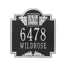 monogram plaques whitehall products monogram standard wall square black silver 2