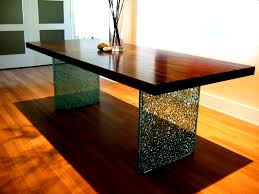 mark hawley s newest design innovation the shattered glass leg adds stunning elegance to this contemporary versatile table hawley s new piece works