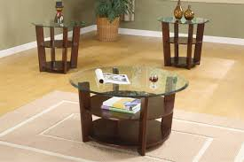 Round Dark Wood Coffee Table - coffee tables attractive coffee and end tables sets table round