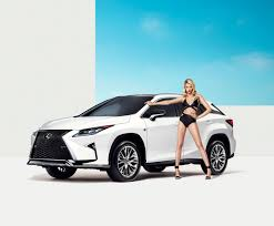 lexus sports car model lexus rx featured in sports illustrated shoot with model hailey