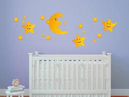 klebefieber kinderzimmer wandsticker mond und sterne wandtattoos kinderzimmer babywelt