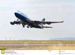 United Airline Stock United Airlines Boeing 747 Taking Off Editorial Stock Image