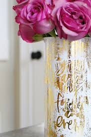 Bowerpowerblog Gold Foiled Verbiage Vase Bower Power