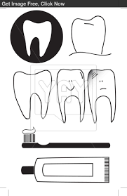 toothbrush and toothpaste coloring page