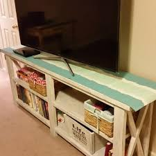 best distressed antique white tv stand shabby chic for sale in