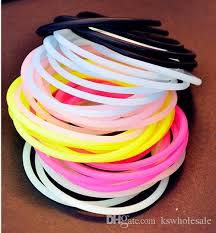 hair tie holder silicone hair ties or bracelet glow elastic for kid
