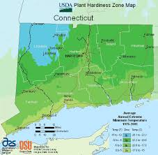 Connecticut usda zone map for growing plants