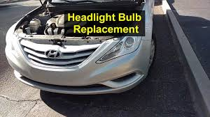 2011 hyundai sonata headlights headlight light bulb replacement on a hyundai sonata remix