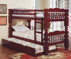 Cherry Bunk Bed Acme Furniture Benji Cherry Bunk Bed With Trundle
