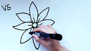18 kids u0027 tutorial how to draw a flower b in 2 minutes