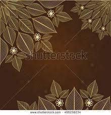 Gold Flowers Vintage Purple Frame Gold Flowers Vector Stock Vector 117026563