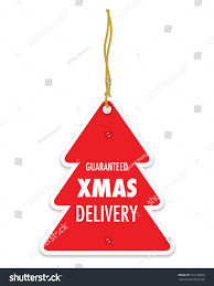 guaranteed christmas delivery tag label stock vector 516179830