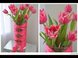 Bling Wrap For Vases Diy Corset Vase With Cut Tulips Youtube