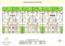 row house duplex floor plan enormo simple search building plans