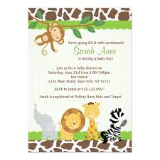 baby boy shower invitations safari jungle baby boy shower invitation zazzle