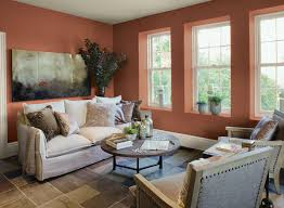 orange living room ideas rich orange living room paint color