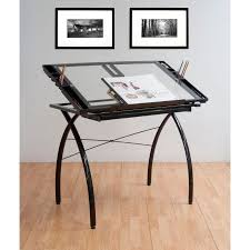 Walmart Drafting Table Studio Designs Futura Black Junior Glass Drafting Table Walmart