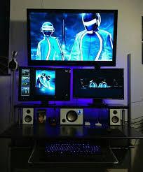 Sick Dorm Room Media Center Setup And Workstation New by 82 Best Awesome Room Designs Images On Pinterest Computer Setup