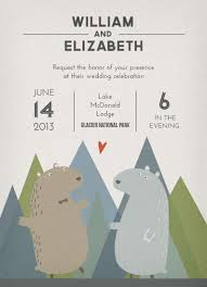 mountain wedding invitations wedding invitations bears celebrate in the mountains at minted