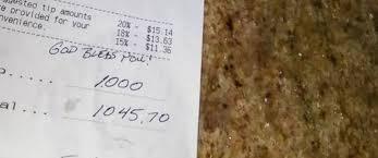 north carolina waitress receives 1 000 tip on 75 tab abc news