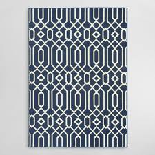 Navy Area Rug Navy Blue Cortes Indoor Outdoor Area Rug World Market