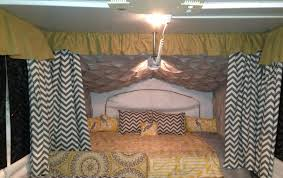 pop up camper make over queen size bed camping pinterest