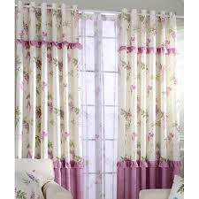 Rose Colored Curtains Red And Ivory Color Block Floral Print Linen Bedroom Or Living
