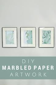 marbled paper art using nail polish