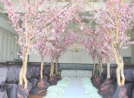 Cherry Blossom Tree Centerpiece by Blossoming Trees For Weddings Crystal Wedding Centerpieces