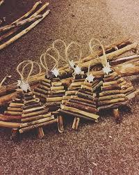rustic handmade wooden mini tree tree decorations