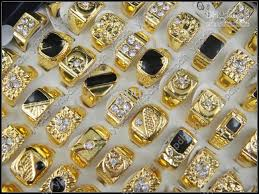 popular cheap gold rings for men buy cheap cheap gold mix size black enamel and rhinestone men ring fashion