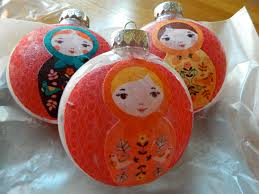 the vintage umbrella nesting doll ornaments