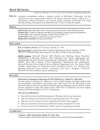 resume exles it professional it professional resume sle for an 5 8 it 4