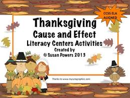 thanksgiving cause and effect centers activities for reading