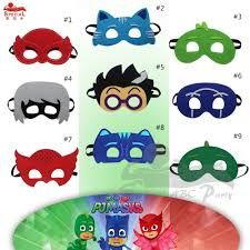 9 pcs kids cosplay masks for halloween birthday themed party face
