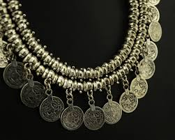 coin jewelry necklace images Bohemian vintage colar silver coin choker bib necklace earrings jpg