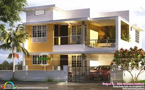 1740 sq ft modern flat roof house kerala home design bloglovin u0027