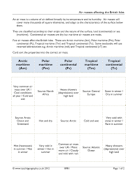 Volume Worksheets Ks3 Weather Resources Teachit Geography