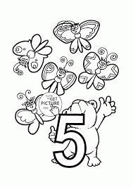 123 coloring pages number 5 coloring pages for preschoolers counting numbers