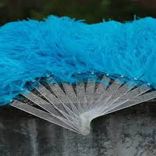 large feather fans single layer blue large ostrich feather fan china large feather