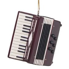 accordion ornament at the stand