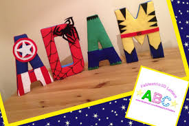 superhero themed fabric covered wall letters www facebook com