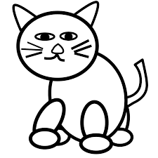 cat black and white cat coloring pages clipart u2013 gclipart com