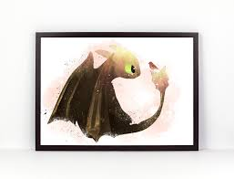 train watercolor etsy toothless how train your dragon fan art watercolor alternative poster
