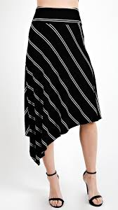 high waisted skirt asymmetrical striped high waisted skirt angl