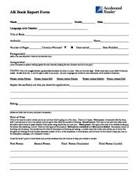 high school book report template ar second chance book report form for middle high school students