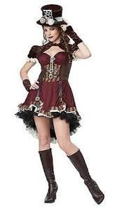 Girls Gothic Halloween Costumes Steampunk Women Brass Emo Movie Goth Halloween Costume